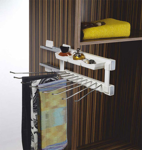 Klasse-Silent-Side-Mounted-Trouser-Pull-Out   Modular-Kitchen   Scoop.it