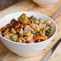 Sweet Potato and Chickpea Salad {Gluten-Free, Vegan} | My Vegan recipes | Scoop.it
