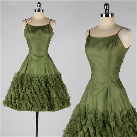 vintage 1950s dress | Antiques & Vintage Collectibles | Scoop.it