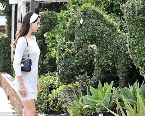 Lana Del Rey splashes out on a $2,850 horse topiary for her new Beverly Hills home | My favorite leisure stuff | Scoop.it