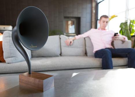 Gramovox, une enceinte audio bluetooth en forme de gramophone | Hightech, domotique, robotique et objets connectés sur le Net | Scoop.it