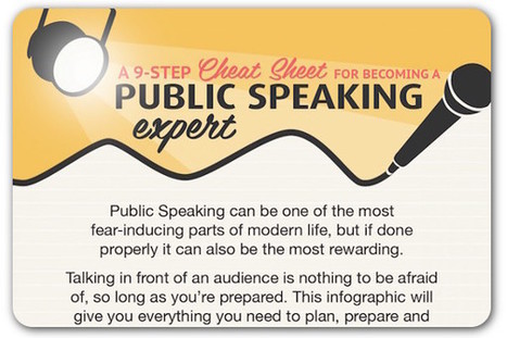 A cheat sheet for public speaking | ProfessionalDevelopment PerfectionnementProfessionnel | Scoop.it