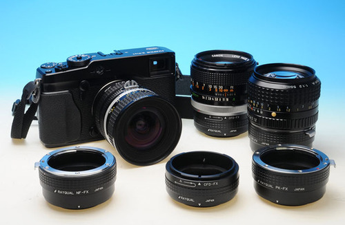rangefinder and SLR mount lenses on the Fujifilm XPro1 mount camera