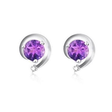 Delicate Amethyst 925 Silver Earrings | Women's Earrings | Scoop.it