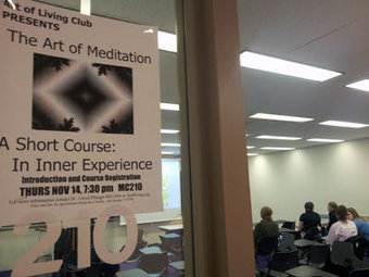 At a stressful time of year, students learn the 'Art of Meditation'   Spirituality and Mental Health   Scoop.it