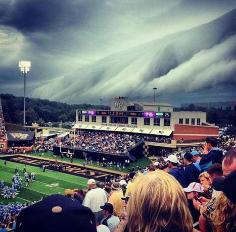 Hurricane Isaac at Wake Forest UNC Football Game   Images   Sports Photography   Scoop.it
