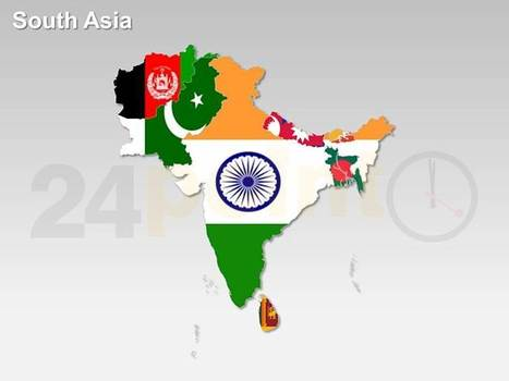 South Asia Map | PowerPoint - Maps, Templates, Diagrams, Illustrations and more! | Scoop.it
