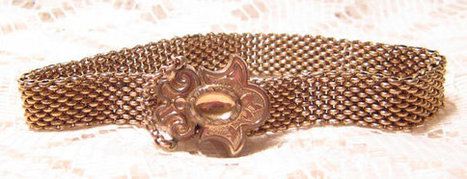 Antique Gold Mesh Slide Bracelet Victorian | Fabulous Vintage Jewelry | Scoop.it