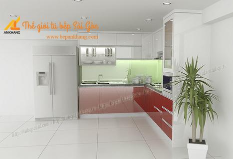 Tủ bếp trắng đỏ anh TIẾN - Tân bình TBAK353 | Tủ bếp, Bếp An Khang tạo dấu ấn cho ngôi nhà VIỆT 0839798355 | Scoop.it