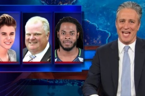 Jon Stewart: Richard Sherman's a Thug, But Justin Bieber and Rob Ford Aren't? (Video) - TheWrap | In Case You Missed It: Lafayette Edition | Scoop.it