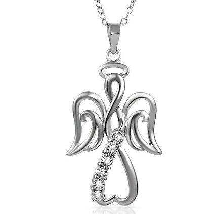 Winged Angel Open Heart Diamond Pendant Necklace | Angels | Scoop.it