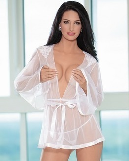 Lace & Mesh Robe & Thong Set | Lingerie, Sexy Halloween Costumes | Scoop.it
