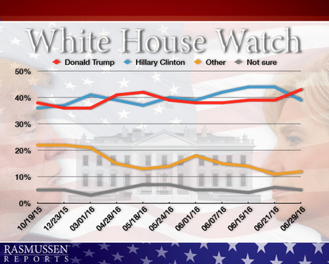 White House Watch: Trump 43%, Clinton 39%   Xposing Government Corruption in all it's forms   Scoop.it