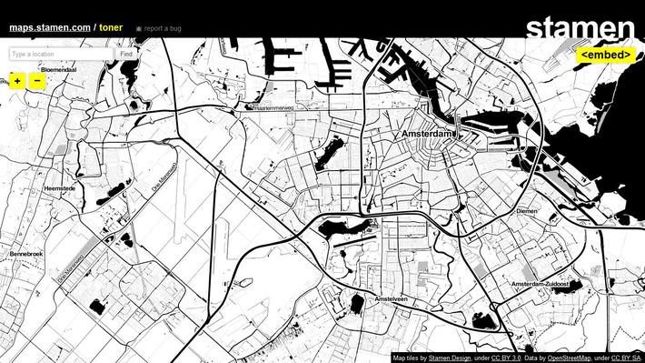 Stamen Maps: mooie kaarten van alle plekken op de wereld | Edu-Curator | Scoop.it