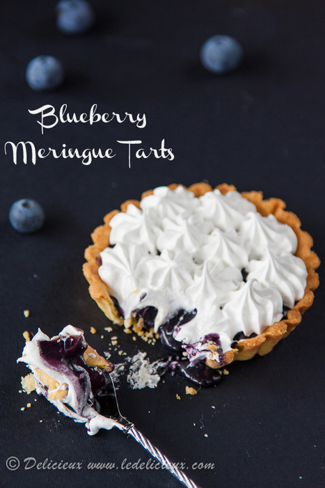 Blueberry Meringue Tarts   Baking Recipes   Scoop.it