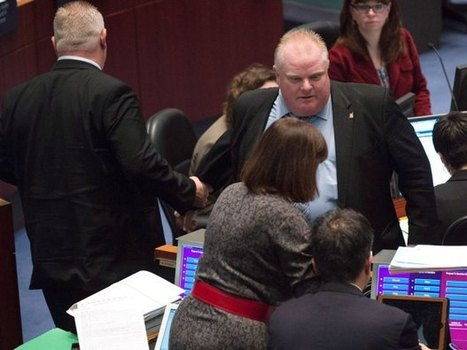 Rob Ford admits to buying illegal drugs as mayor, 'threatens' city councillor during ugly debate on his future | More people leaving you tube to charity tube. More video views & more features | Scoop.it