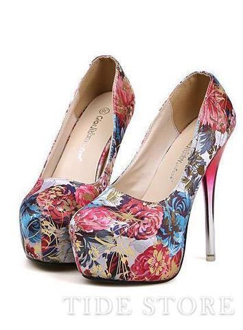 Glamorous New Arrival Rose Platform Low-Cut Uppers Sexy Metal Transparent Pump Shoes   2014 spring  women's fashion   Scoop.it