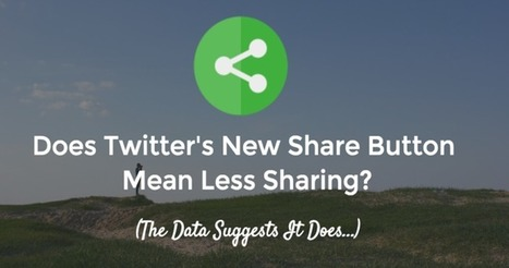 Does Twitter's New Sharing Button Mean Less Sharing?  | MarketingHits | Scoop.it