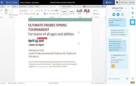 Skype s'invite désormais dans Office Online et OneDrive | L'actualité informatique en vrac | Scoop.it