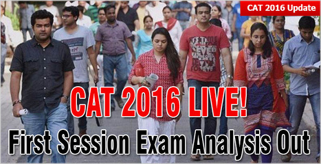CAT 2016: Verbal tough, DI easier, Quant deceptive; Changes in marking scheme | CAT 2016, IIFT, CMAT 2017, XAT 2017, NMAT, MAT, SNAP, MAH CET, TISSNET, CAT Preparation Material, MBA In India, MBA Colleges in India,  CAT Exams, GMAT Preparation Material, MBA Abroad | Scoop.it