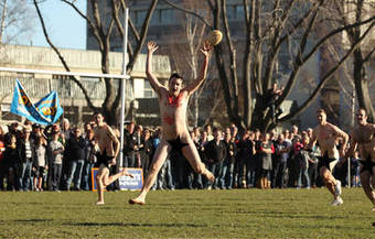 Naked Rugby Match | Strange days indeed... | Scoop.it