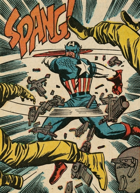 "Comic Book Sound Effects — atomic-chronoscaph: Captain America - art by... | Jack ""King"" Kirby 