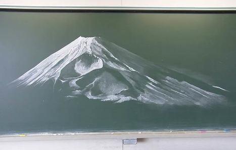 Kokuban Art – Quand les étudiants japonais dessinent sur leur tableau noir | Instantanés | Scoop.it