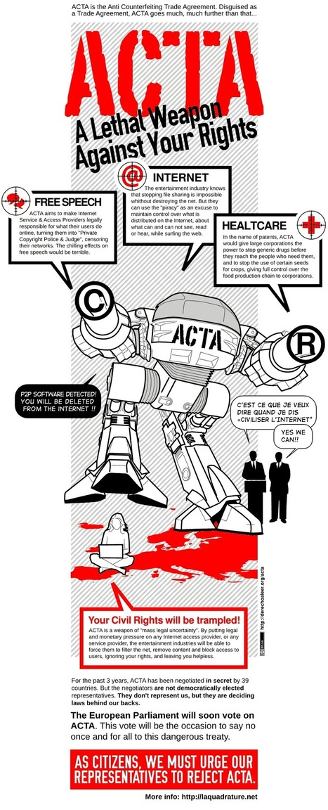 Infographic Remix: ACTA, Lethal Weapon Against your Rights! ~ NQ | Other Voices | Scoop.it