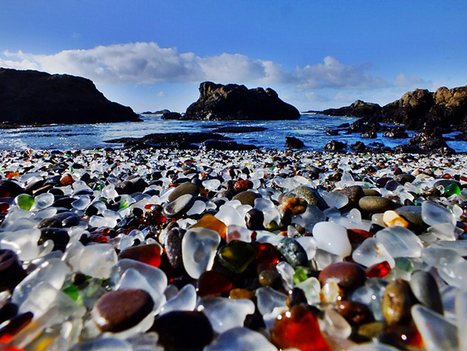This beach in California is covered in Multicolored glass stones | Travel and Places | Scoop.it