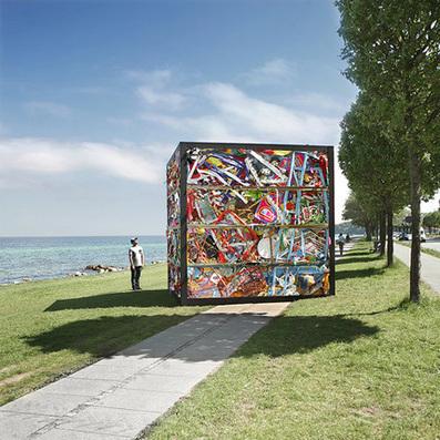 An Entire Amusement Park Smashed Into a Four-Ton Cube | WebUrbanist | Digital Ketchup! | Scoop.it