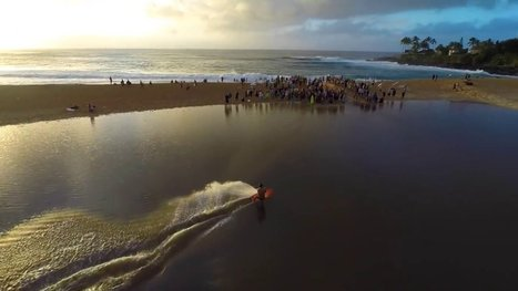 Drone View of Waimea River Surfing Video | Surfing World | Scoop.it