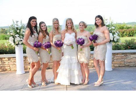 Lace prom dress , Lace Short Bridesmaid Dress  Knee-length   fashionrobe   Scoop.it