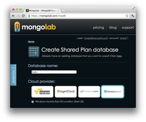 Windows Azure Node.js Tutorials - Web site with MongoDB on MongoLab | Nodejs-code | Scoop.it