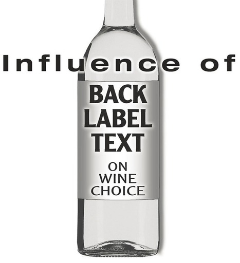 Influence of Back Label Text on Wine Choice | Le Vin et + encore | Scoop.it