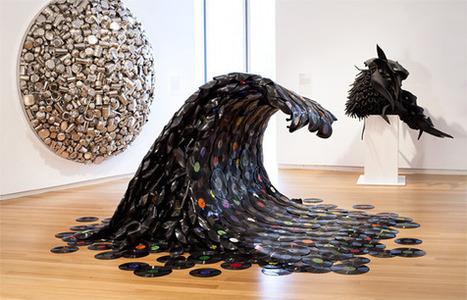 Sound Wave a sculpture by Jean Shin I Art Sponge | DESARTSONNANTS - CRÉATION SONORE ET ENVIRONNEMENT - ENVIRONMENTAL SOUND ART - PAYSAGES ET ECOLOGIE SONORE | Scoop.it