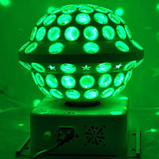 White Shell Contemporary 10W RGB LED Crystal Magic Ball Stage Lighting With Dmx 512 And Outer-Rotating For Dj KTV Club Bar Home Xmas Party – LightSuperDeal.com | LED lights | Scoop.it