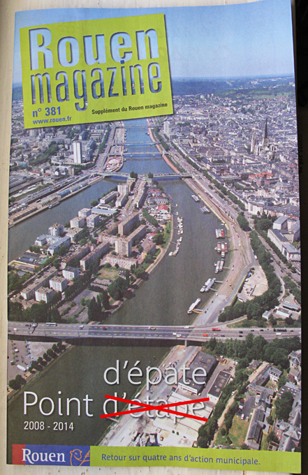 Bilan d'étape ou d'épate? : J'habite Rouen, la plus belle ville du monde selon V. Fourneyron et Y. Robert. | Le Major | Rouen | Scoop.it