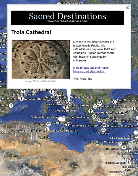 Sacred Destinations on Google Earth (KML File) | JWK Geography | Scoop.it