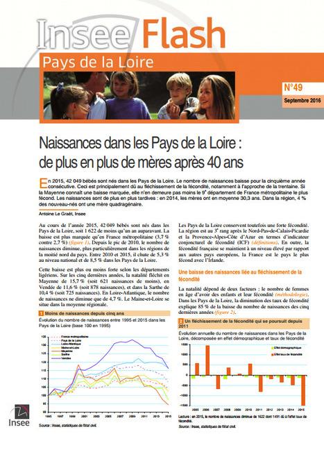 Insee > Naissances dans les Pays de la Loire: de plus en plus de mères après 40ans   Observer les Pays de la Loire   Scoop.it