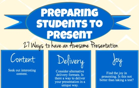 27 Presentation Tips For Students And Teachers | webtools | Scoop.it