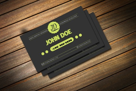 Freebie: Retro Business Card Template (PSD) | MarketingHits | Scoop.it