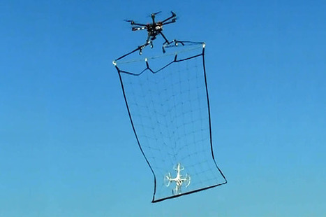 Tokyo to Catch Bad Drones Using Bigger Drones with Giants Nets | Xposed | Scoop.it