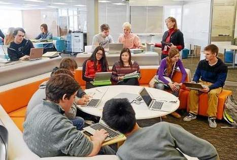 Mentor High School transforms outdated library into The Hub | Educational Technology: Leaders and Leadership | Scoop.it