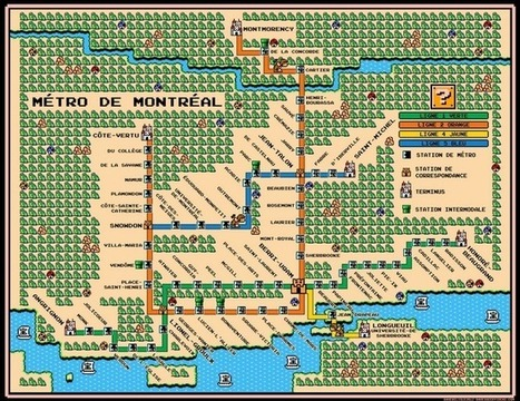 Montreal Metro Map In Mario 3 Style Art Prints by Dave Delisle - Shop Canvas and Framed Wall Art Prints at Imagekind.com | cartography & mapping | Scoop.it
