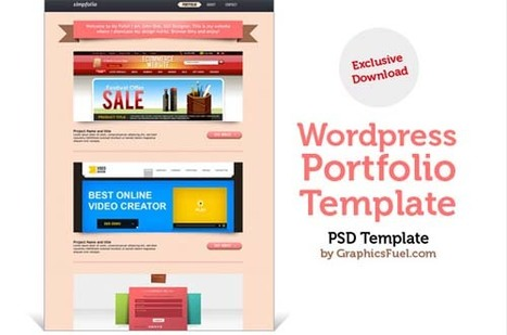 Land-of-web » 60+ free psd templates (spring edition) | photoshop ressources | Scoop.it