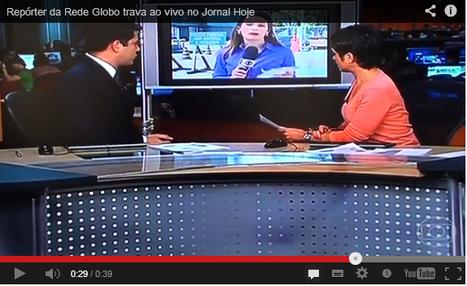 Repórter travou ao vivo no Jornal Hoje | Comunicação | Scoop.it