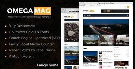 OmegaMag - Magazine/News Responsive Blogger Template - Downloaded.info | Blogger themes | Scoop.it