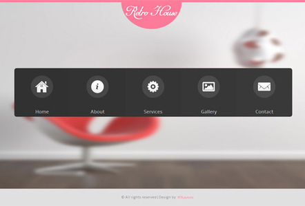 Retro House interior architects Responsive web template and Mobile Website Template | billing | Scoop.it