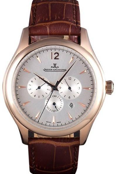 Replica Jaeger Lecoultre Master Chronograph Gold Bezel Brown Leather Band-$245.00 | Men's & Women's Replica Watches Collection Online | Scoop.it