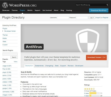 WordPress › AntiVirus « WordPress Plugins | Educational technology , Erate, Broadband and Connectivity | Scoop.it